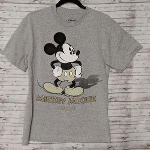 Disney T-shirt womens SZ:M Mickey mouse Gray 55219